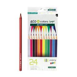 Lápis de Cor Longos C/24 Eco